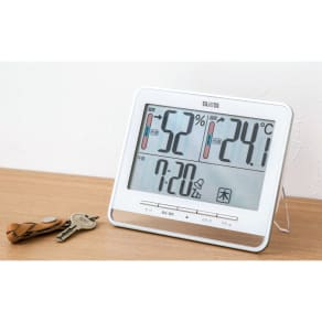 タニタ デジタル温湿度時計 写真