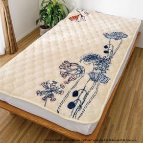 【ディノス限定販売】ヒートループ(R)DX くまのプーさんデザイン ぬくぬく敷きパッド シングル 写真