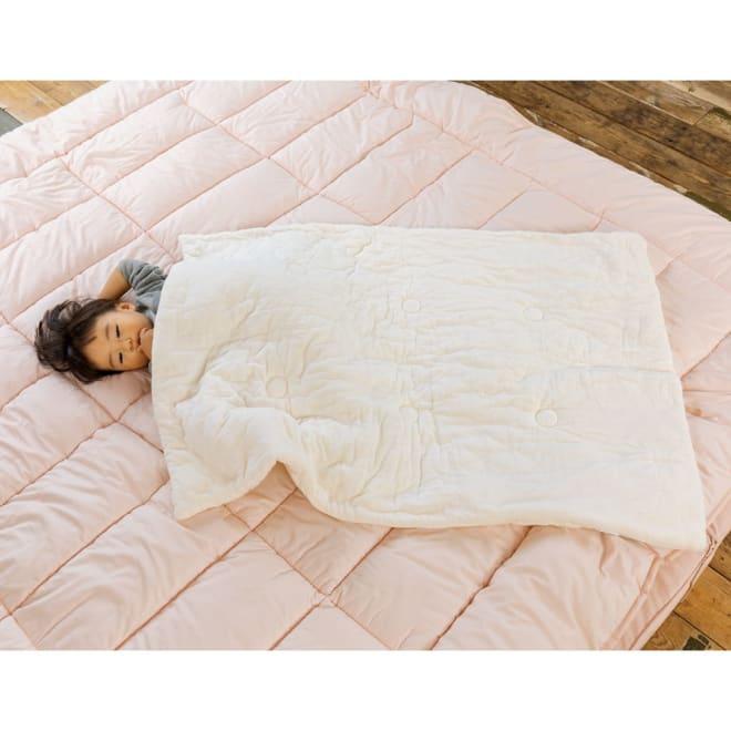 パシーマでつくったベビーお布団 S 程よいボリュームで間のお布団として長くご使用いただけます。