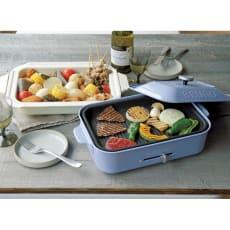 BRUNO/ブルーノ コンパクトホットプレート 本体単品+深型鍋+グリルプレートセット ディノス特典付き