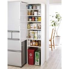 ゴミ箱上を活用できる下段オープンすき間収納庫 幅45cm
