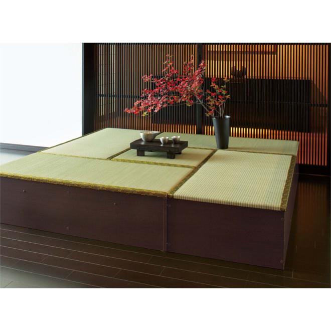 ユニット畳シリーズ お得な4.5畳セット 高さ31cm お得な4.5畳セット(半畳タイプ×1、1畳タイプ×4)