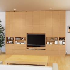 奥行34cm薄型で配線も隠せるスマート壁面収納 テレビ台 ミドルタイプ 幅121cm