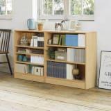 本を効率的収納!薄型段違い棚付き本棚(幅80cm高さ85cm) 写真