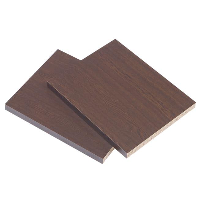 頑丈棚板がっちり書棚 追加棚板2枚組 幅40cm用 (イ)ダークブラウン