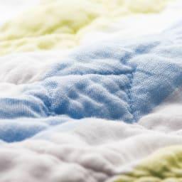 医療用純度の脱脂綿とガーゼを使ったカラフルパシーマ(R) スリーパー 洗うほどやわらか 10回洗濯後のパシーマ(R)