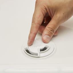 アロマ対応 ハイブリッド式加湿器 つの吹出し口は回転させて位置を調整。