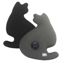 やわらか湯たんぽ 猫型 左から(イ)ブラック (ア)グレー