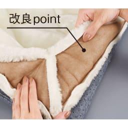 ゆめごこちカバーセット ソファマット カバー裏側を不織布でおおい、毛抜けが少なくなるよう改良しました。