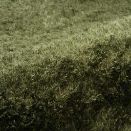 やわらかマイクロファイバーの多色シャギーラグ〈ラルジュ〉 洗えるタイプ (ウ)グリーン
