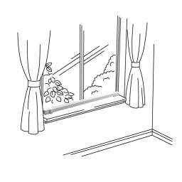 結露と冷気を抑制!「窓際ヒーター」 幅150cm