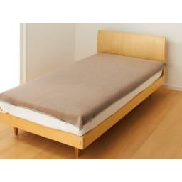 洗える 無染色ブラウンカシミヤ毛布(毛羽部) お得な掛け敷きセット 敷き毛布
