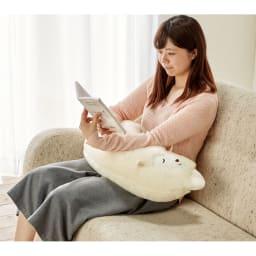 【メリノン】羊の抱き枕 ひざ上にもぴったり 読書やソファでのリラックス時にも。カバーは外して洗えるので衛生的。