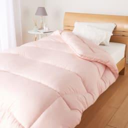 エアーフレイク(R)掛け布団 セミダブル (イ)ピンク ※お届けは掛け布団です。※写真はシングルサイズです。