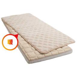 【こんなにお得な冬の限定セット】ブレスエアー(R)敷布団ネオ お得なあったかセット 吸湿発熱パッド付き 敷布団 ポカポカ暖か、しかもムレにくい ふわふわ起毛とたっぷり中わたの暖かいパッド付き。湿気を吸ってムレにくいのもポイントです。