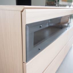 パモウナGV-180 ダイニングからシアターリビングシリーズ テレビ台 幅180cm 扉を閉めたままリモコン操作できます。