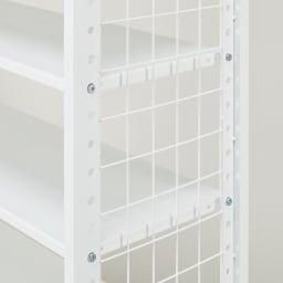 幅・高さ伸縮!スチールローラック(棚4枚・幅伸縮61~89cm) 棚板は3.5cm間隔で移動することができます。