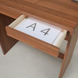 高さが選べるスタンディングデスク(幅120cm高さ100cm) 引出しはA4サイズ対応。散らかりがちな書類や筆記用具の整理に。