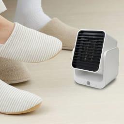 コンパクトセラミックヒーター 足元暖房にもおすすめ。