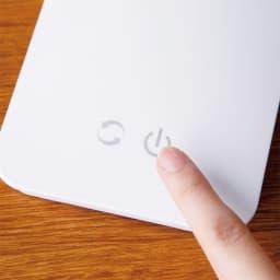 LEDデスクライト タッチパネル式。(左側:調色切替/右側:調光切替)