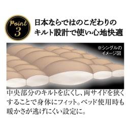 日本ハンガリー国交150周年記念 ノーブルダウン羽毛布団 記念モデルの魅力 ポイント3