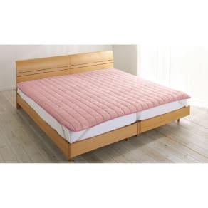ファミリー200(発熱するコットン「デオモイス」寝具シリーズ フランネルニットの敷きパッド ファミリー) 写真