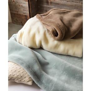 ムートンと錯覚するほどなめらか肌ざわり ジロンウールニューマイヤー毛布 お得なシングル同色2枚組 写真