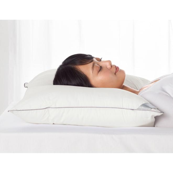 羽毛が苦手なあなたにプリマフロスト(R)シリーズ 枕【普通判・大判】 この清潔さとダウン枕のようなふんわり感がうれしい。