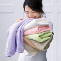 バスタオル 同色2枚組(洗うほどやわらかくなるタオル)