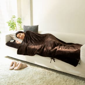 新らく寝ぼう(ホットカーペット&毛布) 電磁波カットタイプ 写真