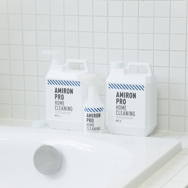 業務用 多目的洗剤「アミロンプロ」 4Lセット(2L×2本) ロングセラーアミロンシリーズ。おしゃれで清潔感あふれるパッケージです。