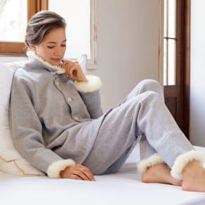 【メリノン】 首・手首・足首を暖める あったかパジャマ 写真