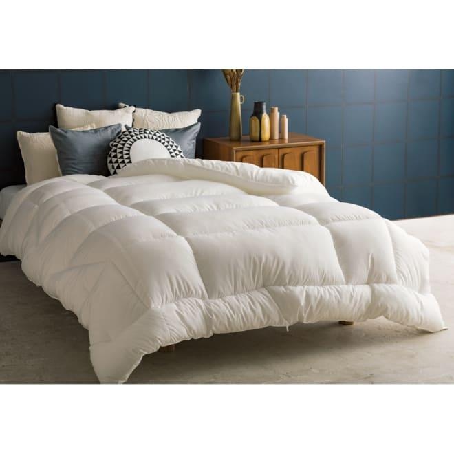 エアーフレイク(R)掛け布団 セミダブル (ア)ホワイト ※お届けは掛け布団です。※写真はダブルサイズです。
