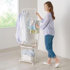 tosca/トスカ スムーズに洗濯物が干せるランドリーハンガーカート 写真