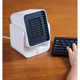 コンパクトセラミックヒーター 人感センサー付き。