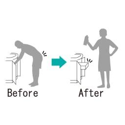 ステンレス製スムーズ引き出しラック 2段 幅25cm 取りづらいシンク下を引き出しに変える、便利な収納グッズです。