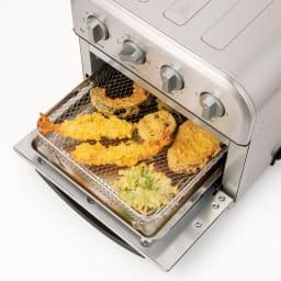 クイジナート エアフライオーブン トースター 特典付き 買ってきた天ぷらもサクサク!(写真はシルバーカラー)