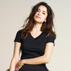 美デコルテ(R) テンセル混 半袖Tシャツ