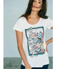 LOLA VIOLA/ローラ ヴィオラ フェイクパール付きTシャツ(イタリア製)