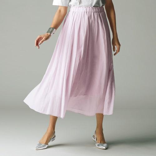 エアリーコットン タックフレアスカート 画像