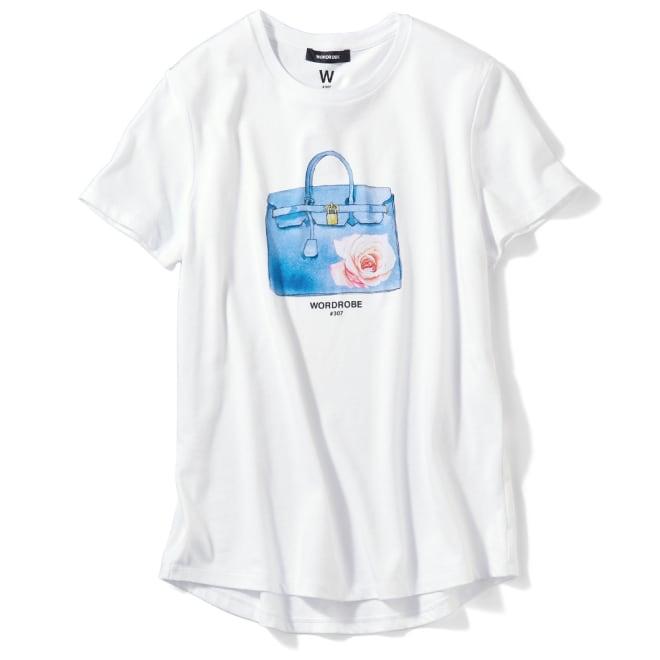 WORDROBE/ワードローブ プリントTシャツ (ア)ホワイト(バッグ)