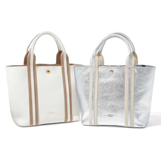 TOPKAPI/トプカピ レザートートバッグ 左から(イ)ホワイト (ア)シルバー