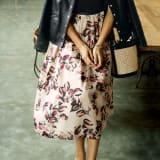 イタリア製生地 フラワープリントスカート 写真