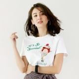 WORDROBE/ワードローブ スパンコールデザイン Tシャツ 写真