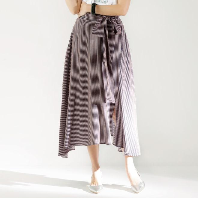 SO SOON/ソースーン ストライプスカート コーディネート例
