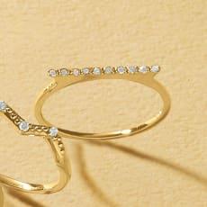 K10 ダイヤ デザインリング