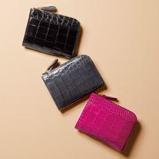 クロコダイル シリーズ L字コンパクト財布(日本製)