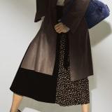 レオパード切り替え プリーツロングスカート 写真