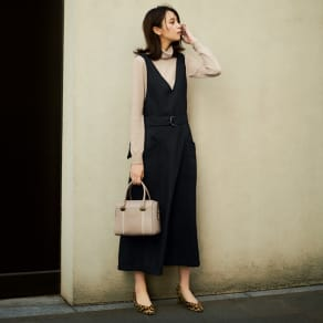 ベルト付き フレアジャンパースカート 写真