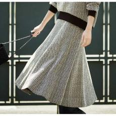 フランス製素材 ジャージージャカードシリーズ スカート 写真